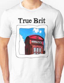 True Brit - Red British Phone Box T-Shirt T-Shirt