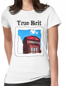 True Brit - Red British Phone Box T-Shirt Womens Fitted T-Shirt