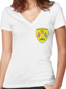British Racing & Sports Car Club Women's Fitted V-Neck T-Shirt