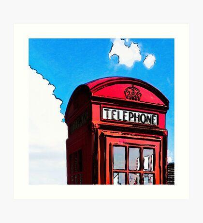 British Icon - Red Telephone Box Art Print