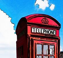 British Icon - Red Telephone Box by Mark Tisdale