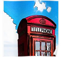 British Icon - Red Telephone Box Poster