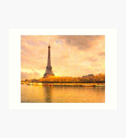 Paris in Pastel - The Eiffel Tower Art Print