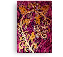 Thai Patterns an acrylic painting Canvas Print