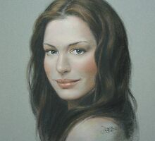 Portrait of Anne Hathaway by Josef  Sy