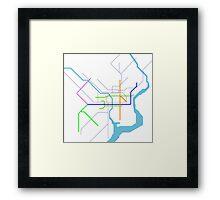 Subway Series- Philadelphia Framed Print