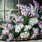 Lilacs in the window by Cathy Amendola
