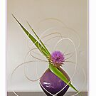 Ikebana-047 Greeting Card by Baiko