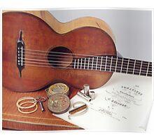 Vintage Guitar & Strings Poster
