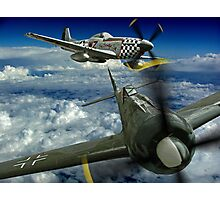 P51 Battles  FW190 Photographic Print