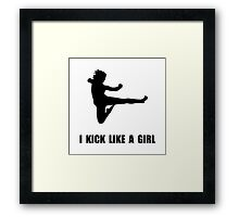 Kick Like A Girl Framed Print