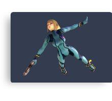 Zero Suit Samus flying Canvas Print