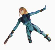 Zero Suit Samus flying One Piece - Long Sleeve