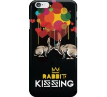 Rabbit kissing iPhone Case/Skin