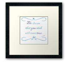 A Dream is a Wish Needlepoint Framed Print