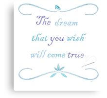 A Dream is a Wish Needlepoint Canvas Print
