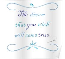 A Dream is a Wish Needlepoint Poster
