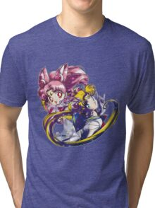 Super Sailor Moon & Chibi Moon (edit 1/A) Tri-blend T-Shirt