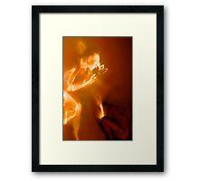 reborn by fire.. Framed Print