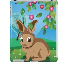 Brown Rabbit on Lawn iPad Case/Skin