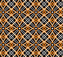 Geometric, patterns, gold, white, black, rust by ackelly4
