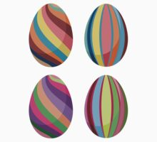 Colorful Easter Eggs 2 One Piece - Short Sleeve