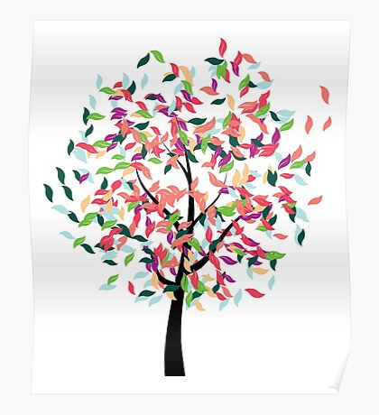 Colorful Tree 2 Poster