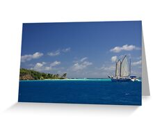 Anchored off shore Greeting Card