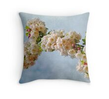 Clouds and Blossoms Throw Pillow