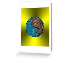 Cancer & Monkey Yang Earth Greeting Card