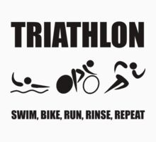 Triathlon Rinse Repeat Kids Clothes
