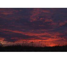 Sunset at Jacksonville Beach Photographic Print