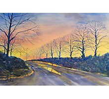 """""""Sunset on Sledmere Road"""" Photographic Print"""