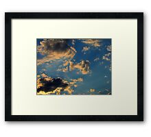 Sunset Clouds 3 Framed Print