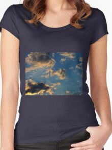 Sunset Clouds 3 Women's Fitted Scoop T-Shirt