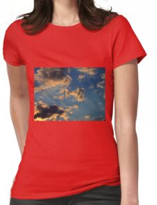 Sunset Clouds 3 Womens Fitted T-Shirt