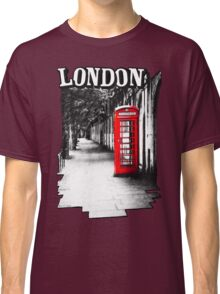London on the Phone - British Phone Booth Classic T-Shirt