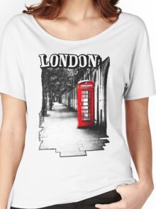 London on the Phone - British Phone Booth Women's Relaxed Fit T-Shirt
