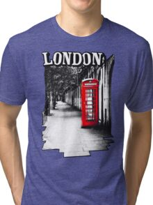 London on the Phone - British Phone Booth Tri-blend T-Shirt