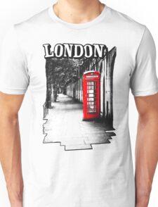 London on the Phone - British Phone Booth Unisex T-Shirt
