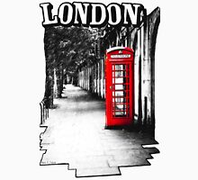 London on the Phone - British Phone Booth Womens T-Shirt