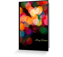 Christmas Candy in Lights Greeting Card