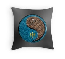 Cancer & Monkey Yang Earth Throw Pillow