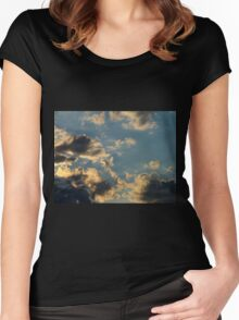 Sunset Clouds 6 Women's Fitted Scoop T-Shirt
