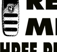 Real Men Use Three Pedals - black Sticker