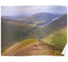 The Lake District: A View from Kirk Fell Poster