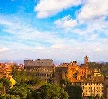 Iconic Roman Skyline  by Mark Tisdale