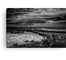 A Stormy Sea Canvas Print