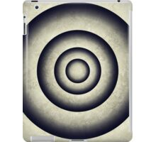 Abstract grunge gray blue 3D metal rings tunnel iPad Case/Skin