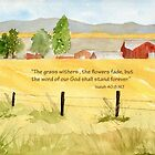 Golden Fields- Isaiah 40:8 by Diane Hall